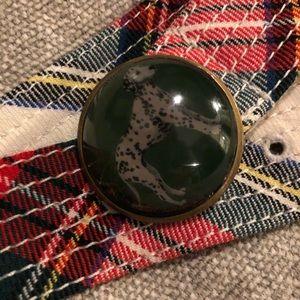 Jcrew Wool Plaid Dalmatian Belt